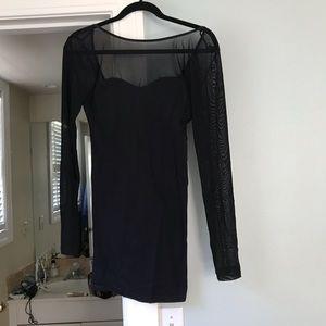 bebe Dresses - Black mesh mini dress
